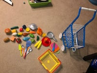 Kitchen toys (food shopping carts) lot Highland Village, 75077
