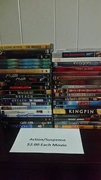 Action/Suspense Movies DVD Part 1 of 3 Conroe, 77304