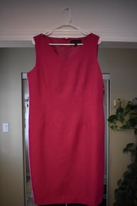 Purple sleeveless dress (Size: 14)