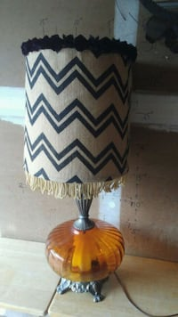 Vintage Amber lamp with retro shade Round Rock, 78664