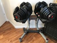 bowflex adjustable dumbbells 1090 with stand