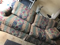 Vintage couch pull out queen bed