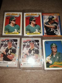 1988 Baseball cards jose Canseco (6 cards)