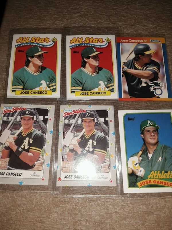 1988 Baseball Cards Jose Canseco 6 Cards