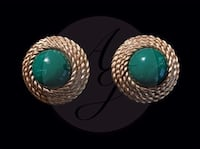 "Vintage ""gold and green marble"" earrings Norfolk, 23502"