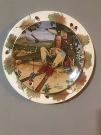 Norman Rockwell hanging plate display Knoxville, 37914