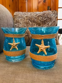 Glass vases - starfish
