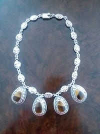 Hand made silver necklace with tiger eye stone  Gaithersburg, 20879