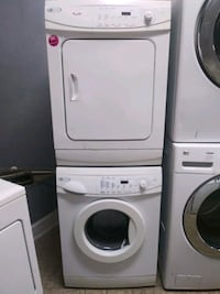 Maytag apartment size front load washer with electric dryer set
