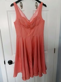 Beautiful Coral Silk Dress - Medium St. Catharines, L2P 3N9