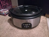 GE stainless steel and black 6QT slow cooker Sylvester, 31791
