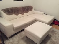 White Real Leather couch Coquitlam, V3K 3S5