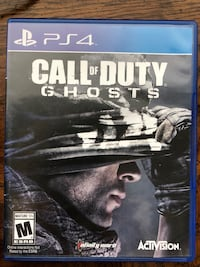 Call of Duty Ghosts PS4 game case Lititz, 17543