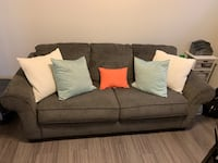 Gray sofa with queen bed fold out and love seat!!! New Braunfels, 78130