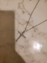 Dimond cross necklace