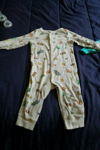 baby's white and green footie pajama Athens, 30606