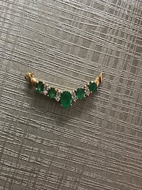 100% Natural Emeralds and Diamonds in Solid Gold Pendant