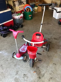 Tricycle and scooter