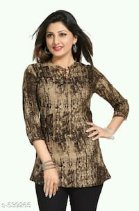 women's black and brown long sleeve dress