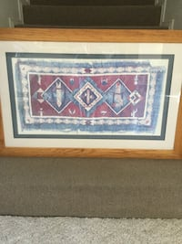 Indian blanket picture. Dimensions are 45 inches wide by 29 inches tall. Oak frame. Excellent condition . Albuquerque, 87109