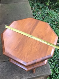 Brown wooden occasional table