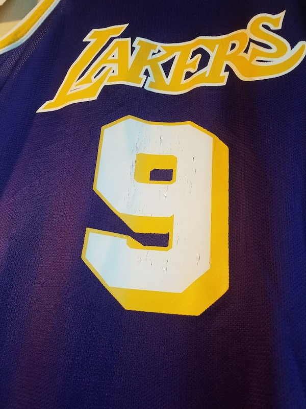 91ae3ed66 Used purple and yellow Los Angeles Lakers 9 jersey for sale in Isla ...