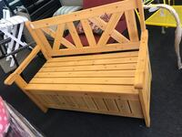 Wood Bench with Storage (Summer Clearance Sale) Houston, 77092