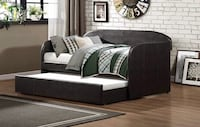 Roland 4950 Dark Brown Faux Leather Daybed with Trundle Richmond, 77407