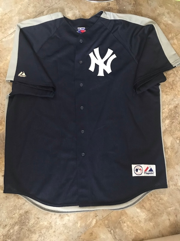 Used Alex Rodriguez Blue and gray new york yankees jersey shirt for sale in  New York - letgo 3a98de884ce