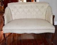 tufted white fabric sofa with throw pillows Ancaster, L9G 3X5