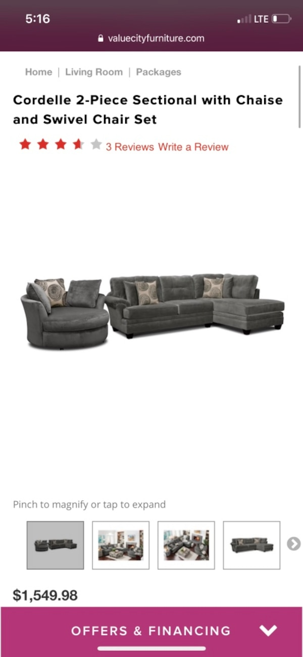 Cordelle Sectional And Swivel Chair