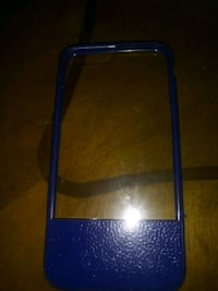 Blue/clear iPhone Case
