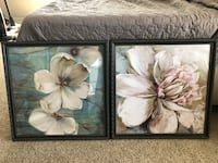 Two pictures with frames