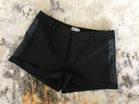 Black mini shorts with leather bands - Wix San Francisco, 94109