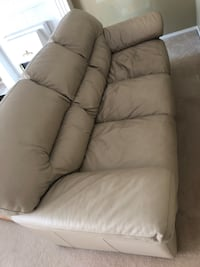 Ivory leather love seat and 3 seat couch 250 OBO Abbotsford, V2T 5G1