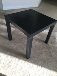 square black wooden coffee table