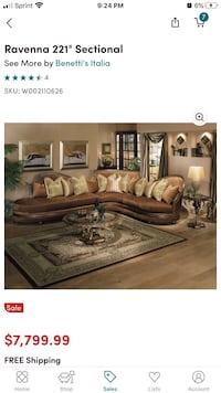 Ravenna 221 Sectional (Right-hand facing Stafford, 22554