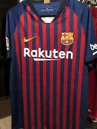 2018 2019 FC Barcelona Official Nike Soccer Jersey Home Version Mesa
