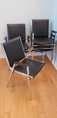 Sleek gently used black office chairs $15 each or 6 for $60 Markham, L6B