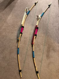 Bow and Arrow Sets (2) handcrafted in Temuco, Chile (decorative only)