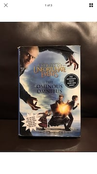 Lemony Snicket's a Series of Unfortunate Events Books 1-3 Hardcover London, N6G 2Y8