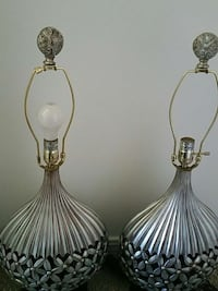 two silver-colored table lamps Prichard, 36613