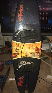 black and yellow snowboard with bindings San Jose, 95136