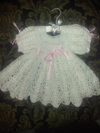 baby's white and blue knitted dress Madison, 62060