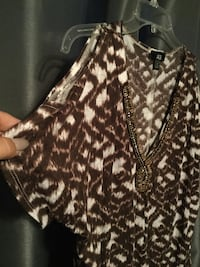 black and white leopard print blouse Fort Wayne, 46835