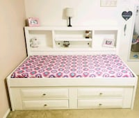 white and purple wooden bunk bed 1952 mi