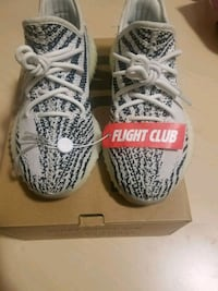 pair of Zebra Adidas Yeezy Boost 350 V2 with box Spring, 77382