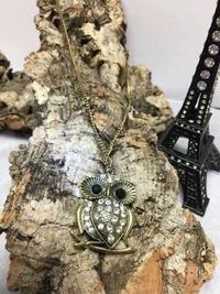 Alloy Rhinestone Owl necklace  Barrie, L4N 5S6
