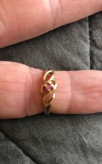 NEW Women's 10k yellow gold ring with ruby.  Great for any occasion Spring or summer. Size 4.  Can be resized  Fullerton, 92831