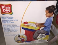 Play day. My very own desk and easel. Mississauga, L5R 1V1